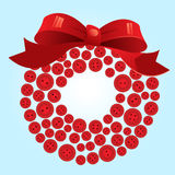 Funky button wreath Royalty Free Stock Photo