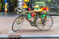 Funky bycicle in Amsterdam Stock Photos