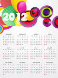 Funky calender design Stock Images