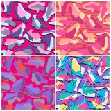 Funky Camouflage Seamless Vector Pattern Royalty Free Stock Image
