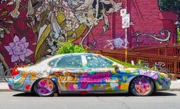 Funky Car in Kensington Market Stock Photo