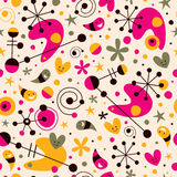Funky cartoon retro pattern Royalty Free Stock Images