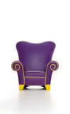 Funky chairs. Isolated white funky chair on white background stock photography
