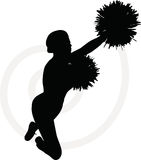 Funky cheerleader silhouette Royalty Free Stock Photography