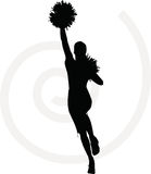 Funky cheerleader silhouette Stock Photography