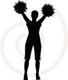 003132 funky cheerleader silhouette Stock Images