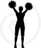 003132 funky cheerleader silhouette. Illustration of funky cheerleader silhouette Stock Images