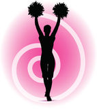 Funky cheerleader silhouette Royalty Free Stock Images