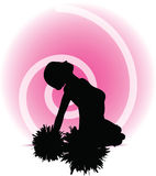 Funky cheerleader silhouette Stock Photos
