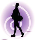 Funky cheerleader silhouette Royalty Free Stock Photo