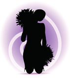 Funky cheerleader silhouette Stock Photo