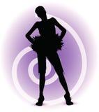 Funky cheerleader silhouette Stock Image
