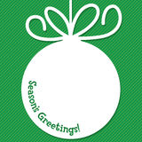 Funky Christmas bauble tag Stock Photography