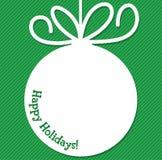 Funky Christmas bauble tag Stock Photos