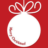 Funky Christmas bauble tag Royalty Free Stock Photography