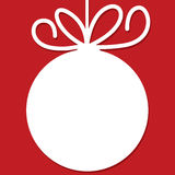 Funky Christmas bauble tag Royalty Free Stock Images