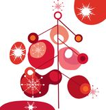 Funky christmas tree Stock Photo