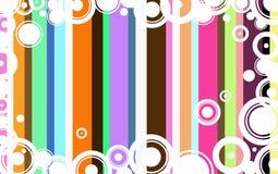 Funky Circle Background stock illustration