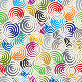 Funky circles retro style seamless pattern. Stock Photography
