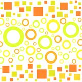 Funky circles and squares. Pattern Royalty Free Stock Photo