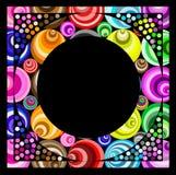 Funky circular frame stock illustration