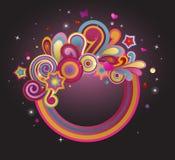 Funky cirkel stock illustratie