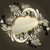 Funky cloud. Urban retro styled funky cloud with space for text, vector illustration Stock Photography
