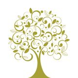Funky Coil Tree vector illustration