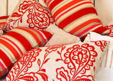 Funky color pillows Stock Photo
