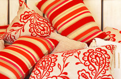 Funky color pillows Royalty Free Stock Images