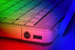 Funky colored laptop detail Stock Image