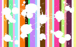 Funky Colored Splats. Funcy Background with white splats over the top Stock Photography