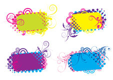 Funky colorful backgrounds Stock Image