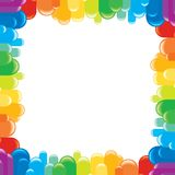 Funky Colorful Frame. Vector Illustration Stock Photo