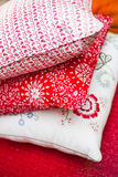 Funky colorful pillows Royalty Free Stock Photography