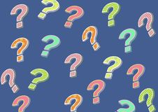 Funky colorful question mark. Digital composite of funky colorful question mark Royalty Free Stock Image
