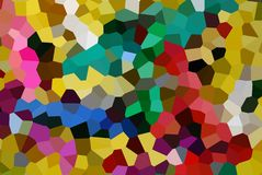 Funky colour mosaic Royalty Free Stock Photos