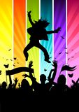 Funky Colourful Crowd Royalty Free Stock Photography