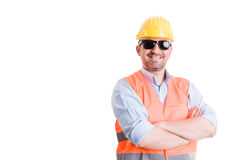 Funky constructor, builder, foreman or worker Royalty Free Stock Images