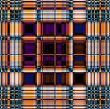 Funky contrasting gingham pattern in blue, violet and orange. Colors Royalty Free Stock Images