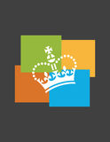 Funky crown design Stock Image