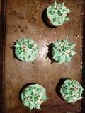 Funky cupcakes royalty-vrije stock afbeeldingen