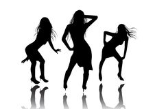 Funky Dance Girls Stock Photos