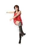 Funky dancer. Young funky dancer, isolated on white background Stock Image