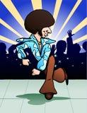 Funky dancer dancing. Illustration  of a funky dancer on stage background Stock Image