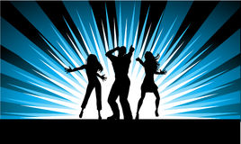 Funky dancers vector illustration
