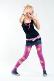 Funky dancing punk girl Stock Image