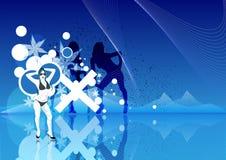 Funky Dansende Meisjes Vector Illustratie