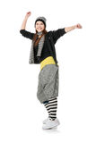 Funky danser royalty-vrije stock afbeeldingen