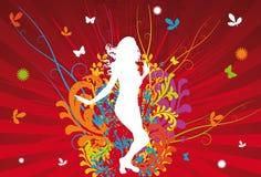 Funky Danser stock illustratie